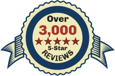 Over 3000 5-Star Reviews