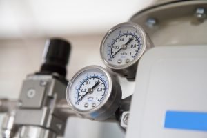 Pressure gauge process for monitored condition.