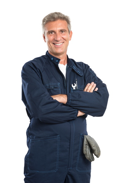 technician-smiling-on-white-background