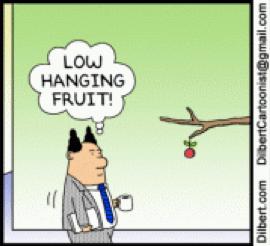 dilbert-cartoon-with-dialogue-that-says-low-hanging-fruit